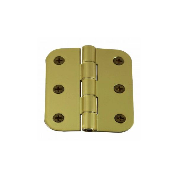 """Cabinet Hinges Bright Solid Brass Square 2"""" x 2.5"""""""