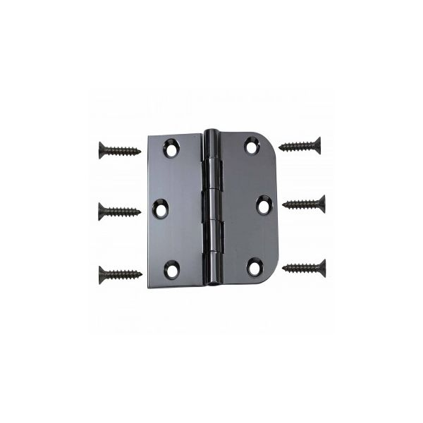 """Cabinet Hinges Chrome On Brass Combo Hinge 3"""" x 3"""""""