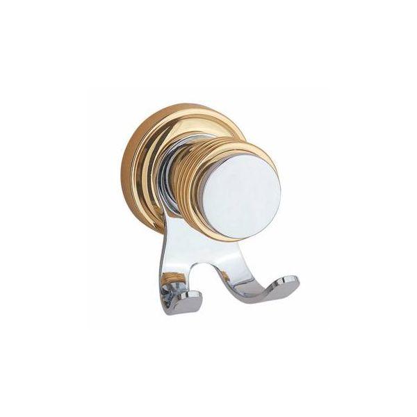 Victorian Bathroom Robe Hook Spectrum Chrome and Brass