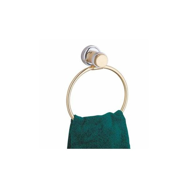 Victorian Solid Brass Towel Ring for Bathroom 6 3/4 Inch