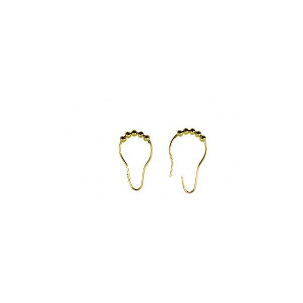 24 All Brass Shower Curtain Hook Ring Roller Ball