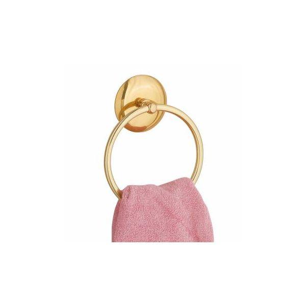 "Towel Ring Bright Brass 6"" D"