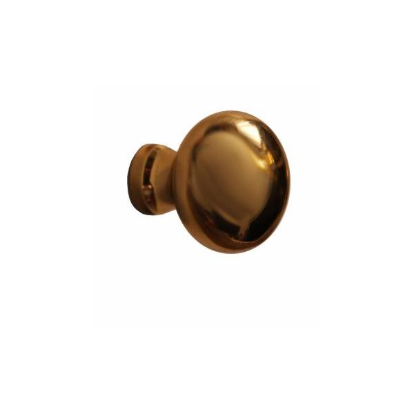 """Cabinet Knob Black Solid Brass Colonial 1"""" Dia"""