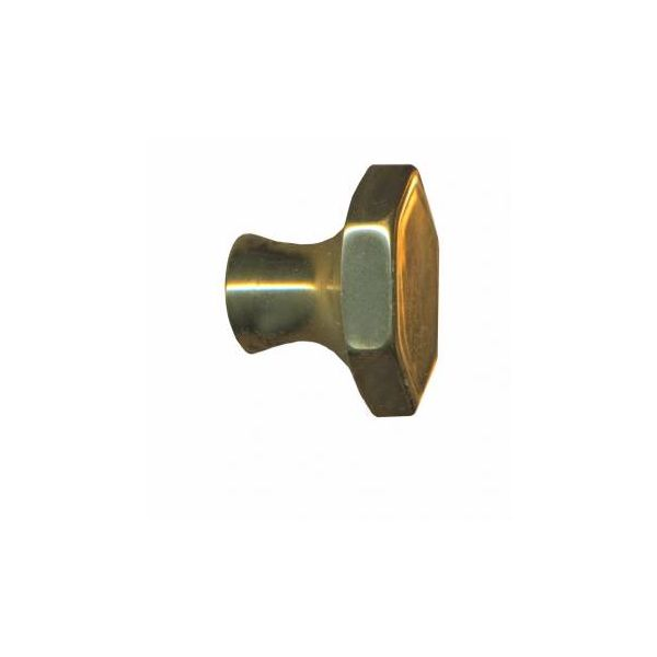 "Cabinet Knob Bright Solid Brass 1"" Dia"
