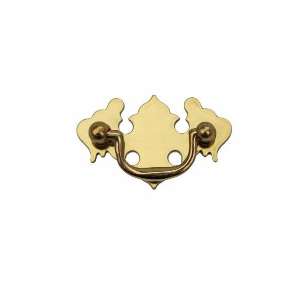 """Chippendale Bail Pull Bright Solid Brass 2 7/8"""""""