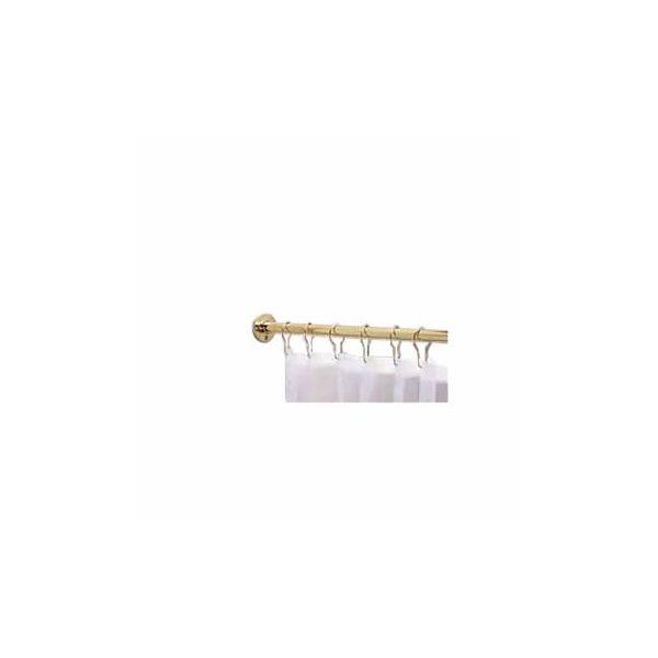 Brass Shower Curtain Rod 5' Feet Long