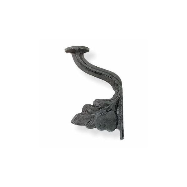 Hat Hook Black Cast Iron Grape Leaf