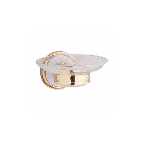 Victorian Soap Dish Bright Brass Porcelain Holder