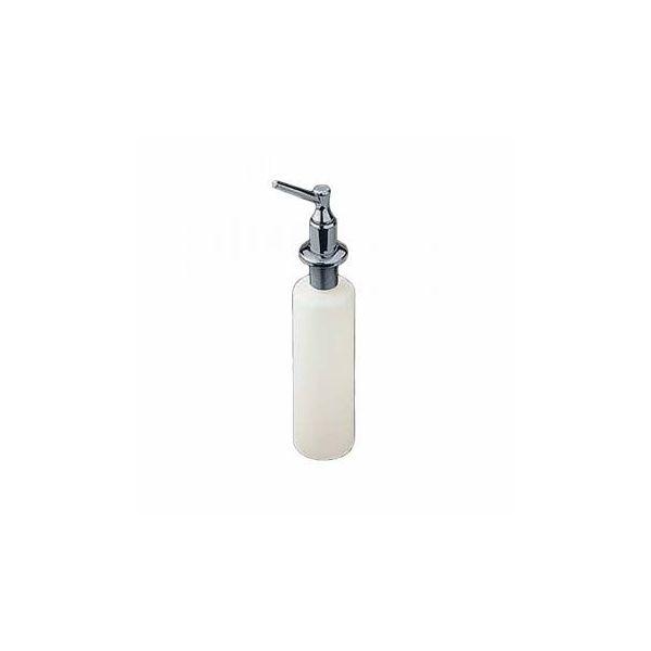 Bathroom Liquid Soap Dispenser Chrome and Plastic Dispenser