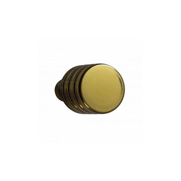"""Cabinet Knobs Bright Solid Brass Drum Knob 1"""""""
