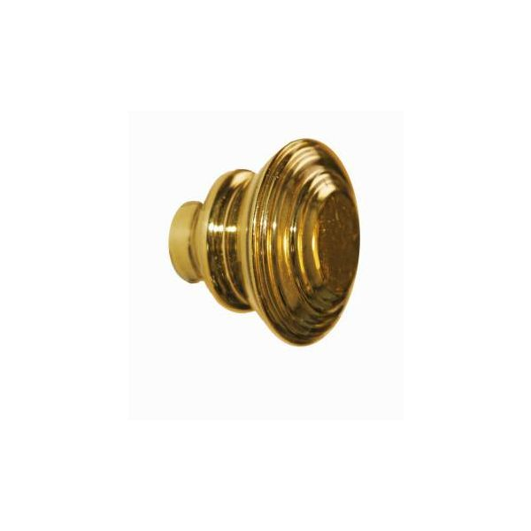 "Cabinet Knob Brass Double Flare 1 1/4"" Dia"