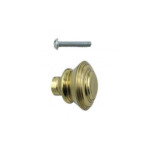 "Cabinet Knob Classic Brass 1"" Dia"
