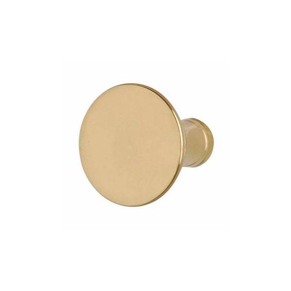 """Cabinet Knob Bright Solid Brass Pedestal 1 1/4"""""""