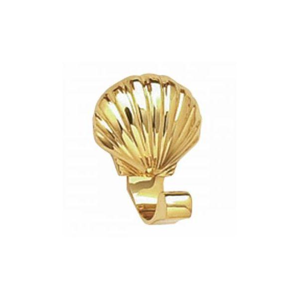 Brass Robe Hook Sea Crest