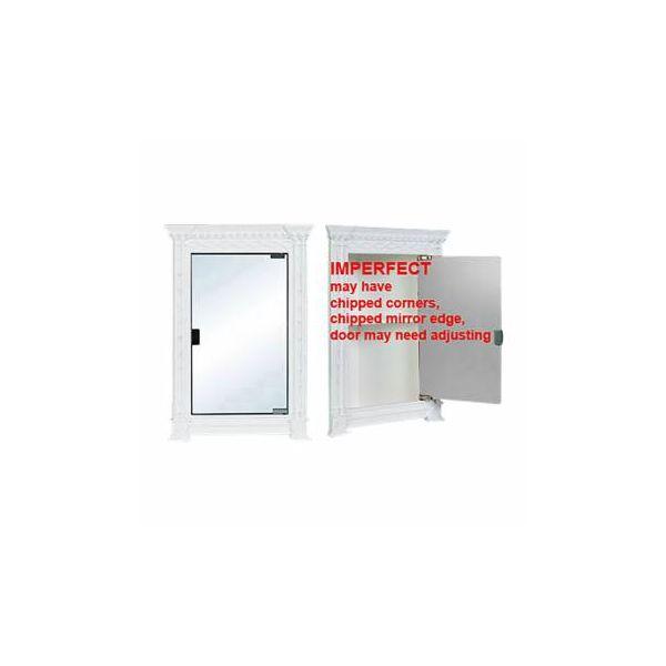 Corner Cabinets White Urethane Foam Damaged