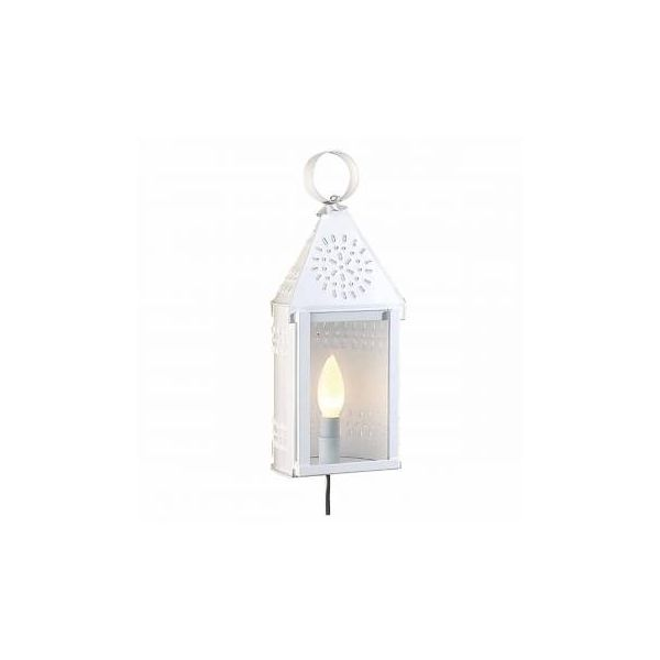 Outdoor Lighting White Tin Wall Light