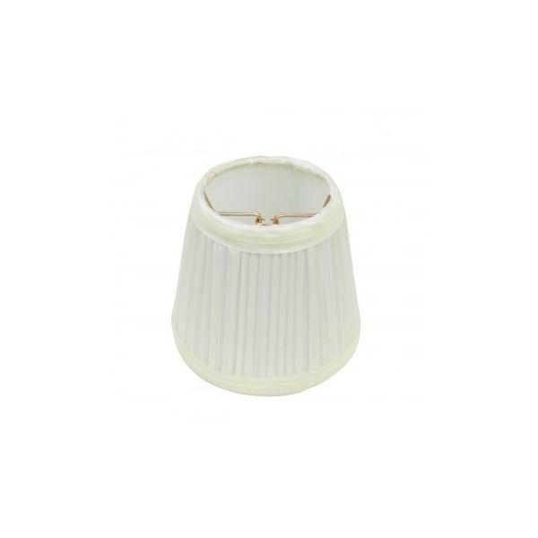 "Lamp Shade Eggshell White Fabric 4 1/2"" Mini Drum Clip On"