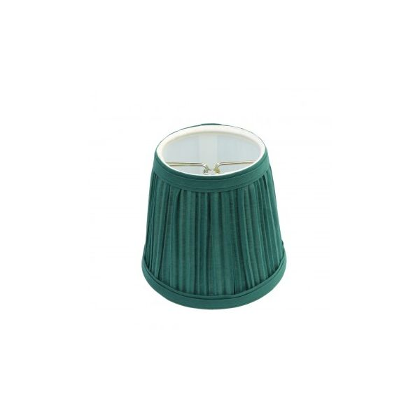 "Lamp Shade Hunter Green Fabric 4 1/16"" H Mini Clip On"