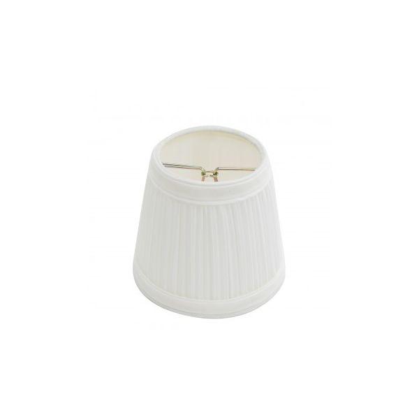 "Lamp Shade White Fabric 4 1/16"" Mini Clip On"