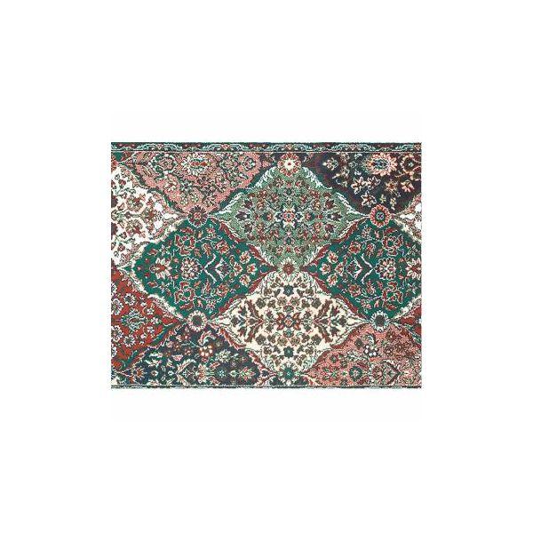 Rectangular Area Rug 6' x 4' Green Wool